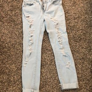 Forever 21 distressed jeans in light wash